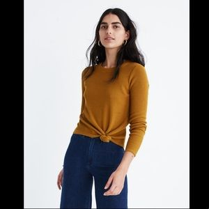Madewell Texture & Thread Jacquard Knot-Front Top